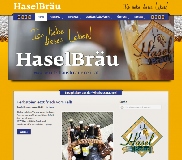 screenshot neue website